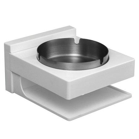 Muxika Stainless Steel Bathroom Ashtray Wall Mount wth Storage, Outdoor Ash Bin Smoking Tray for -