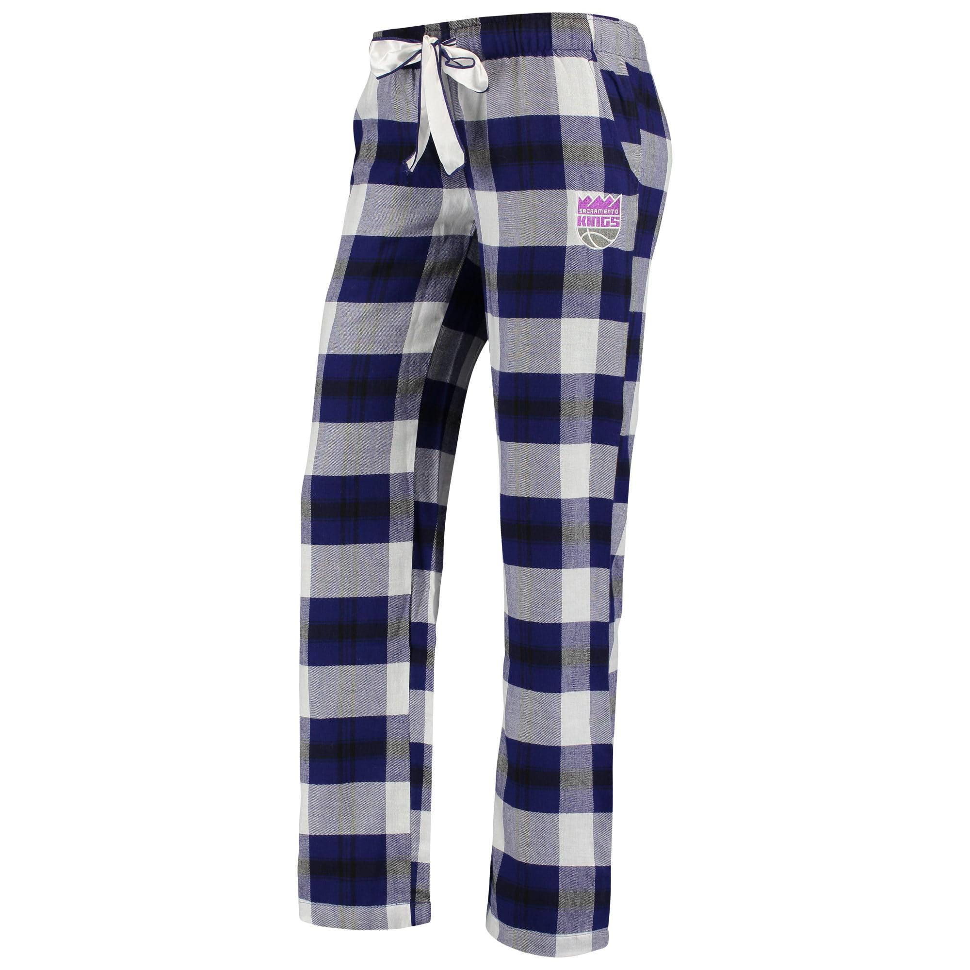 Concepts Sport Sacramento Kings Mens Pajama Pants Plaid Pajama Bottoms