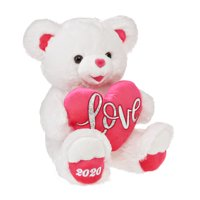 Way To Celebrate Valentine's Day White and Pink Sweetheart Teddy Bear 2020