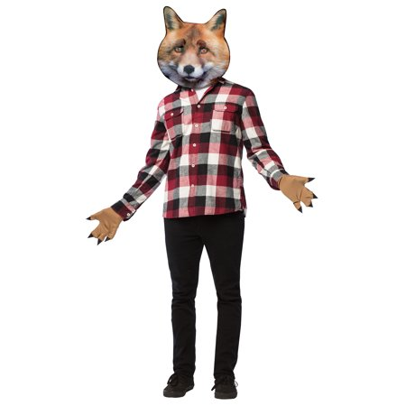 Fox Head with Paws Adult Halloween Accessory