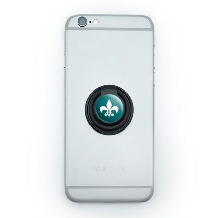 Fleur De Lis Teal Mobile Phone Ring Holder Stand