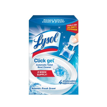 Lysol Automatic Toilet Bowl Cleaning Click Gel, Ocean Fresh Scent, 4ct