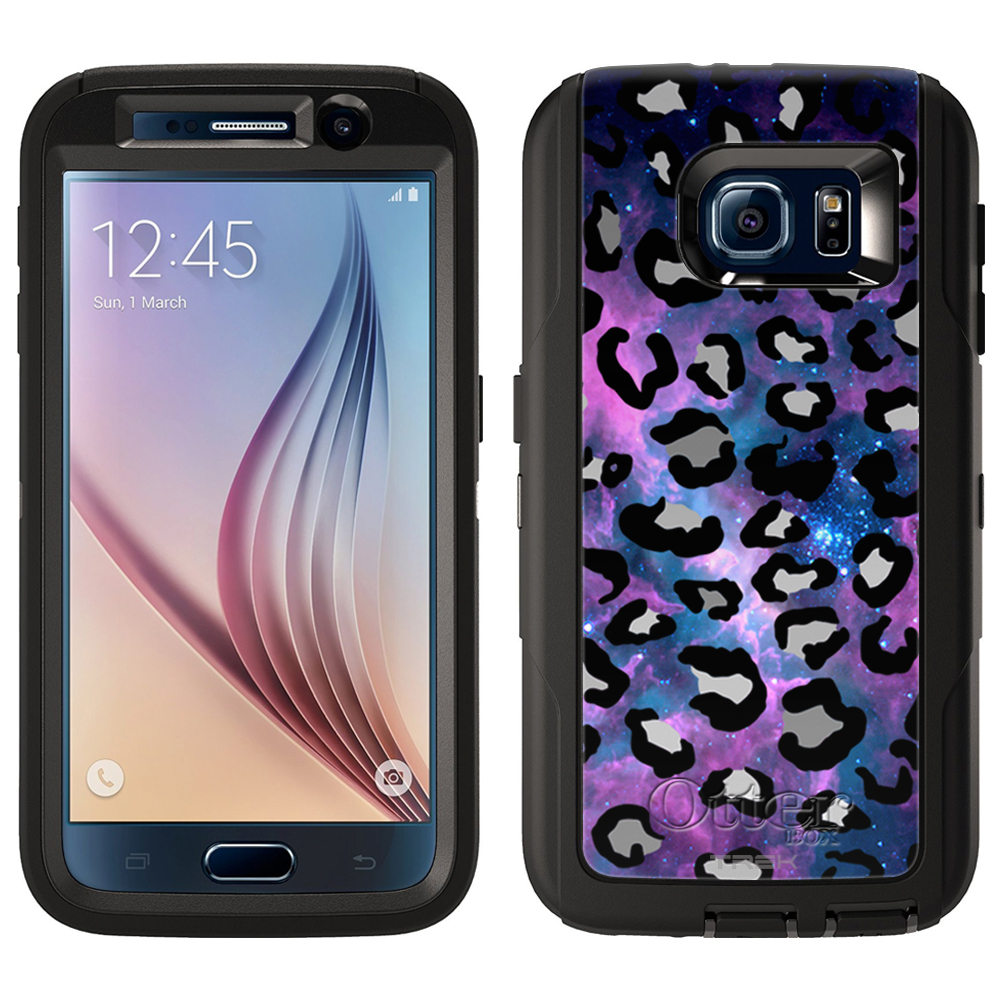 OtterBox Defender Samsung Galaxy S6 Case - Black Leopard on Nebula OtterBox Case