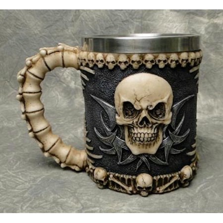 Skull Skeleton 3D Skeleton Tankard Mug Cup Coffee Beer Pirate Gothic Halloween - Halloween Coffee Cups