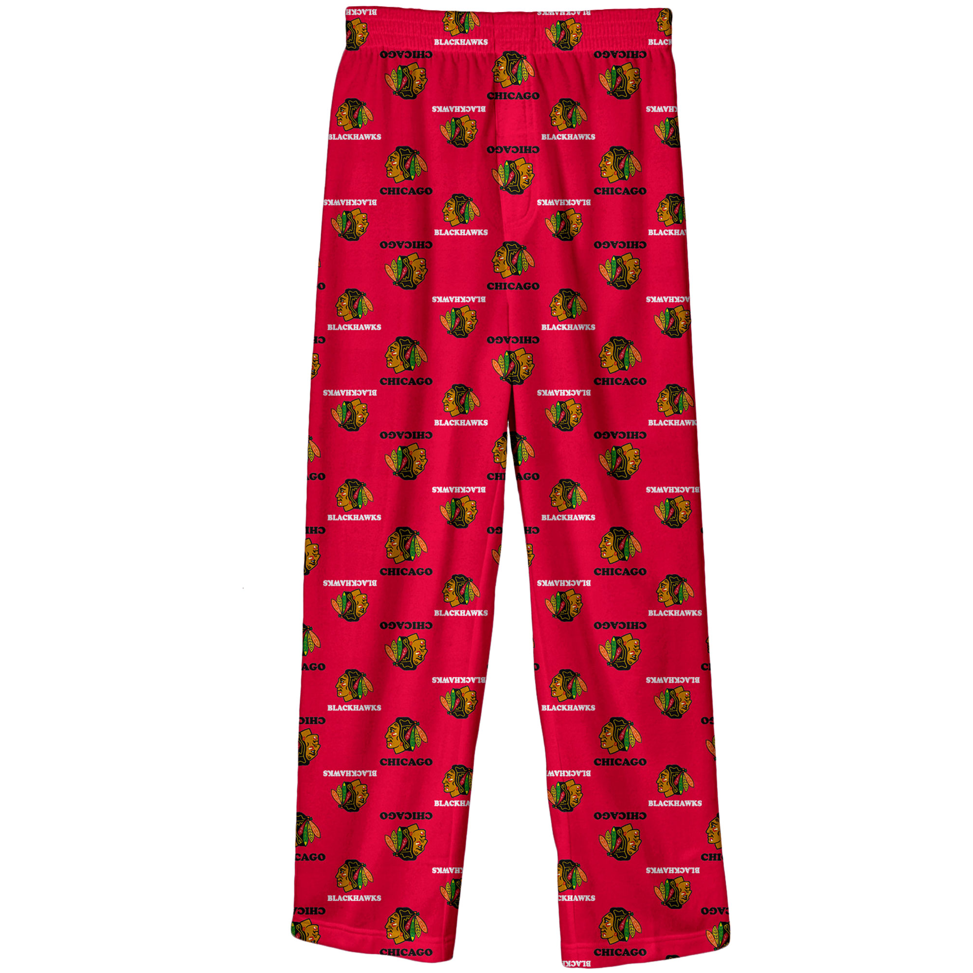Chicago Blackhawks Preschool Team Logo Printed Pajama Pants - Red