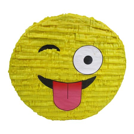 Wink Emoji Pinata Party Game Centerpiece Decoration And Photo Prop