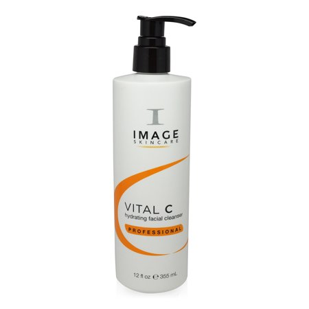 ($50 Value) Image Skin Care Vital C Hydrating Facial Cleanser, Face Wash for Normal to Dry Skin, 12 Oz
