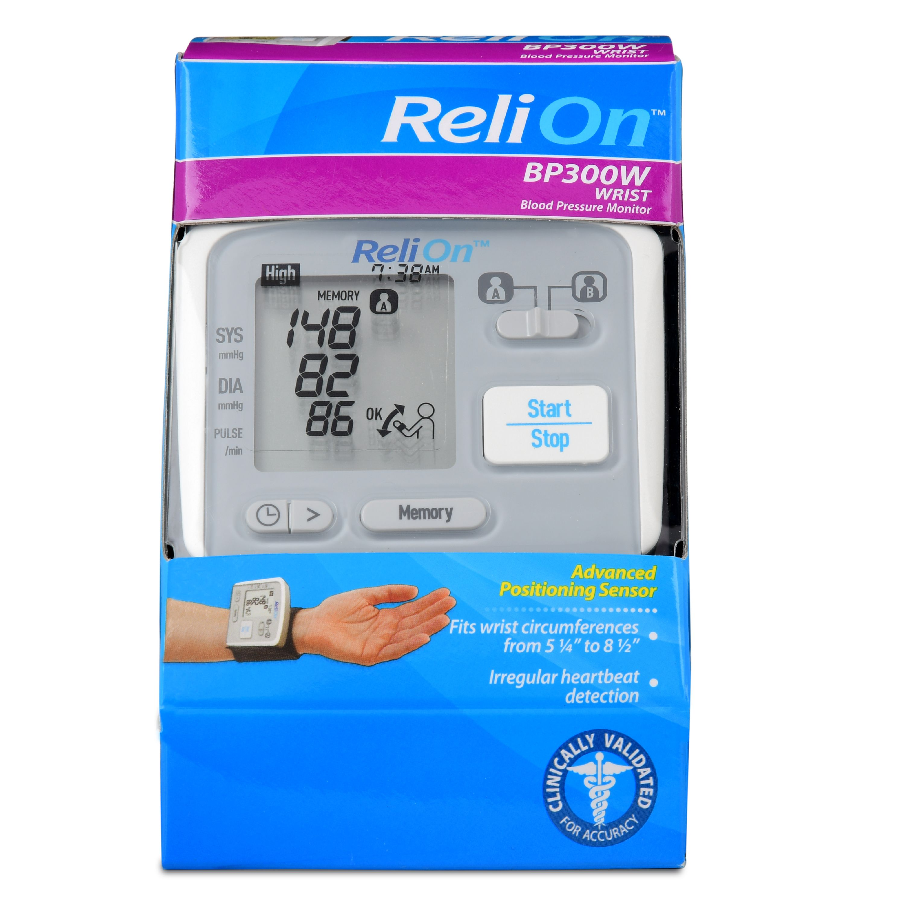ReliOn BP300W Wrist Blood Pressure Monitor