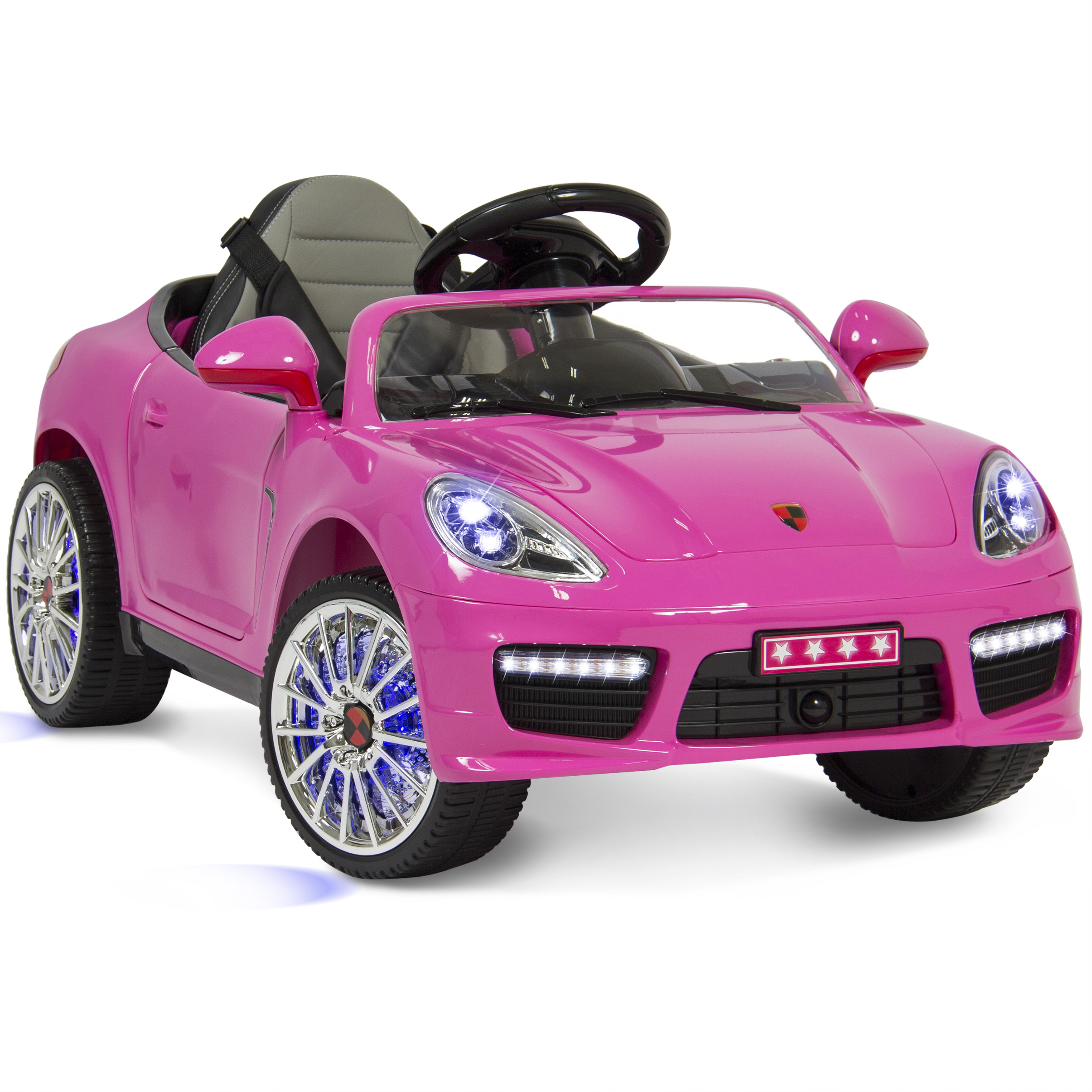 Best Choice Products Kids 12V Ride On Sports Car Style W/ Hydraulics, Remote Control, 2 Speeds, LED Lights