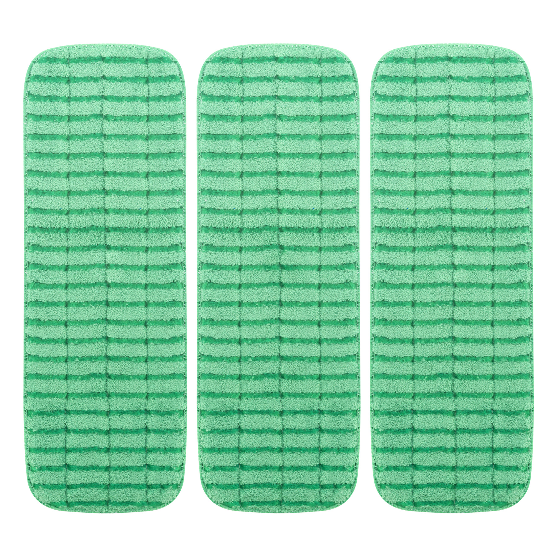 "Zwipes Commercial 18"" Microfiber Wet Mop Scrubbing Pad Green - 3 CT3.0 CT"