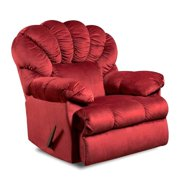 American Furniture Lady Godiva Polyester Recliner - Sangria - Rocker - Recliner Only