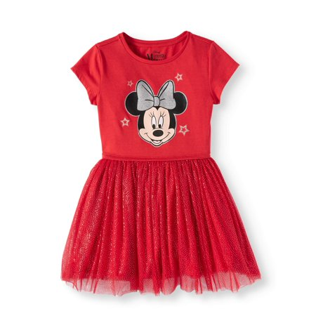 Minnie Mouse Foil Mesh Dress (Little Girls and Big - Minnie Mouse Dress Toddler