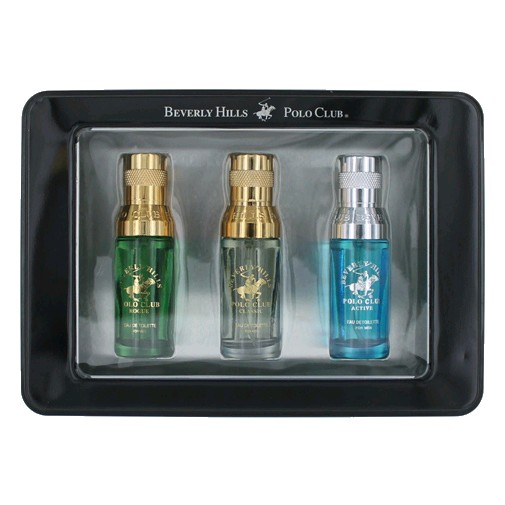Beverly Hills Polo Club Cologne 3 Piece Variety Gift Set men (Black)