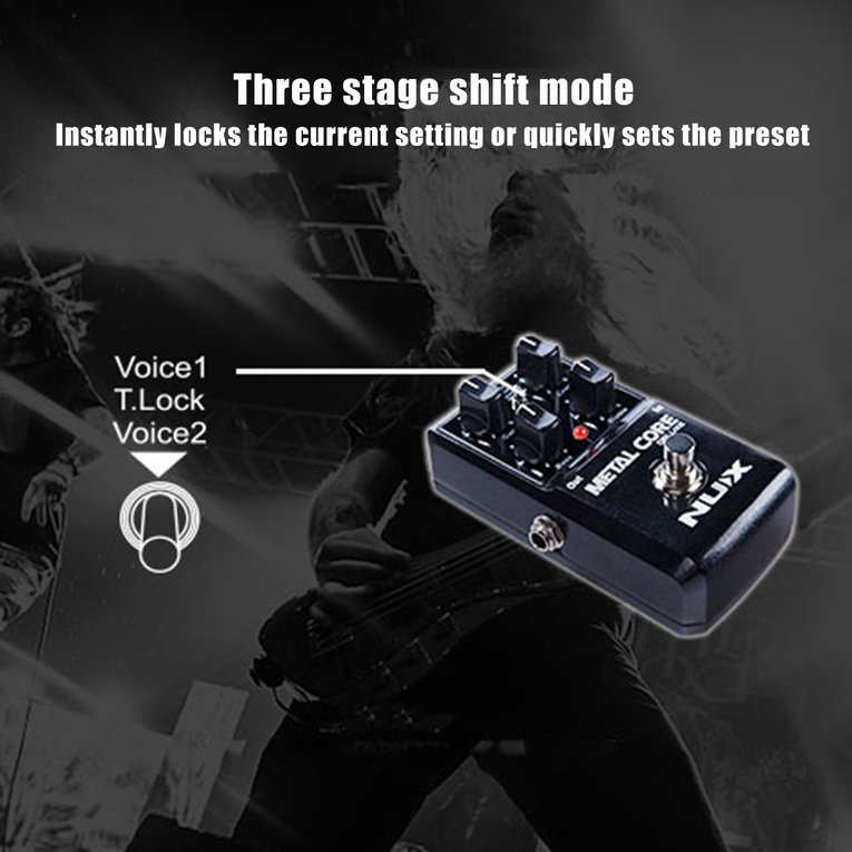 2017 Hot Sale Metal Core Deluxe Distortion Guitar Effects Pedal Extreme Heavy Metal Pedal... by