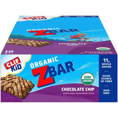 CLIF Kid® Organic ZBar™ Chocolate Chip Baked Whole Grain Energy Snack 18-1.27 oz. Bars