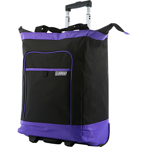 Olympia Deluxe Rolling Shopper Tote