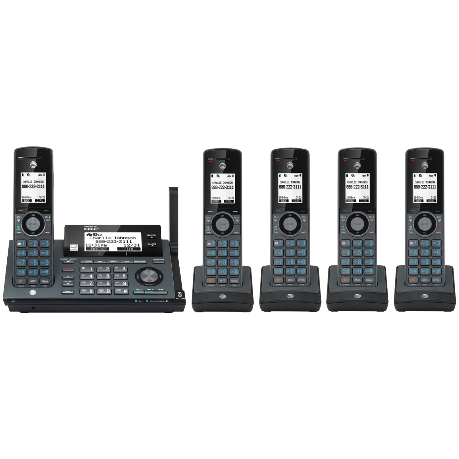 AT&T 5 handset System with blocker