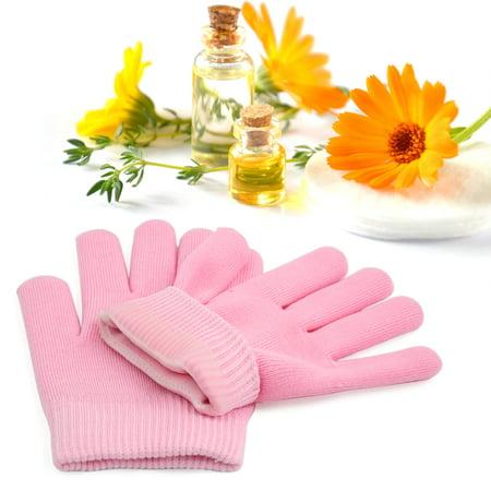 1 Pair Pink Soften Exfoliating Moisturising Hand Skin Care Spa  Gel Gloves