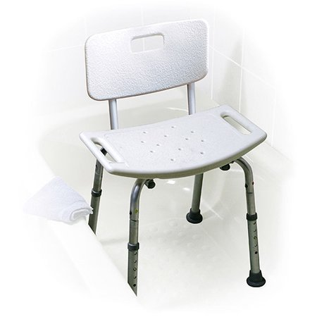 Bath Bench with Back, No Tools Assembly - Walmart.com
