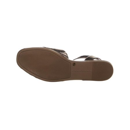 5ea328ac2b5 A35 Malore Peep Toe Ankle Strap Flat Sandals