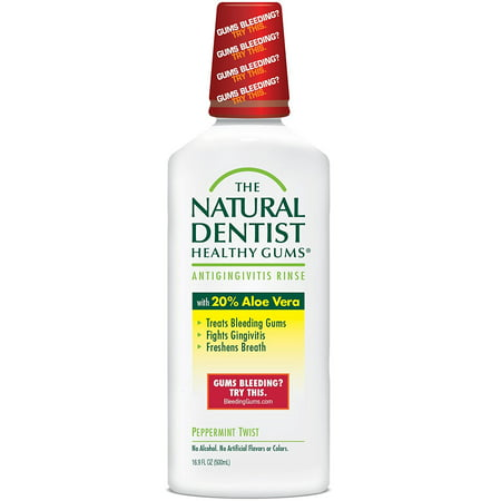 The Healthy Gums Antigingivitis Mouthwash to Prevent and Treat Bleeding Gums and Fight the Gum Disease Gingivitis - Peppermint Twist flavor, The.., By Natural