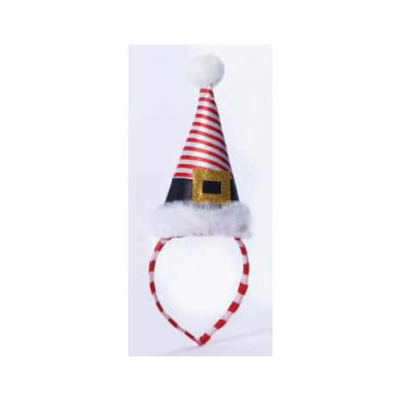 MINI STRIPED SANTA HAT ON HDBD (Striped Top Hat)
