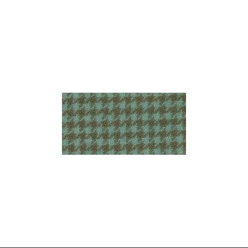 "Wool Houndstooth Fabric Fat Quarter 100% Wool 16""X26"" Cut-Seafoam"