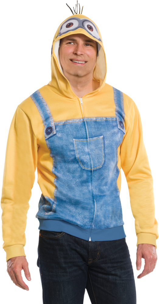Adults Mens Despicable Me Minion Kevin In Overalls Hoodie Costume  sc 1 st  Walmart & Adults Mens Despicable Me Minion Kevin In Overalls Hoodie Costume ...