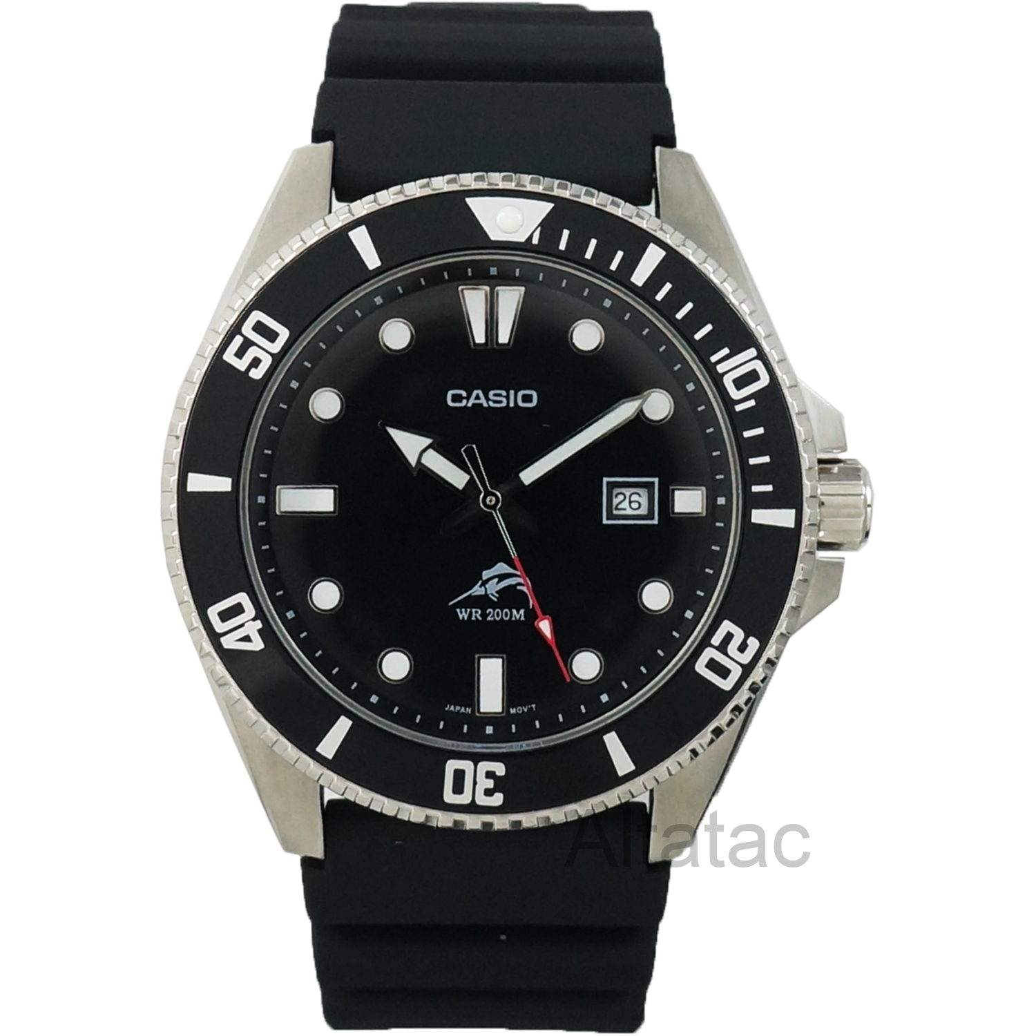 Casio MDV106-1A Men's Duro 200M Analog Diver's Watch w/ Black Resin Band
