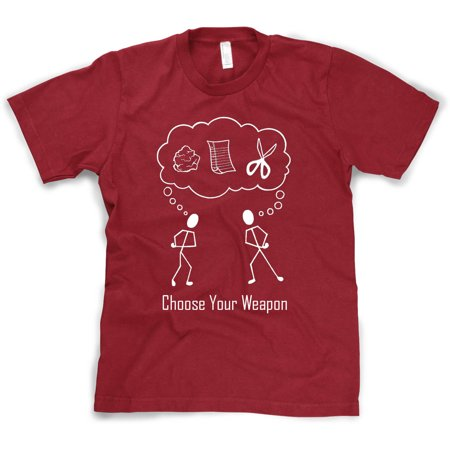 Crazy Dog T-shirts Choose Your Weapon T-Shirt Classic Rock Paper Scissors Maroon Shirt](Making Your Own T-shirts)