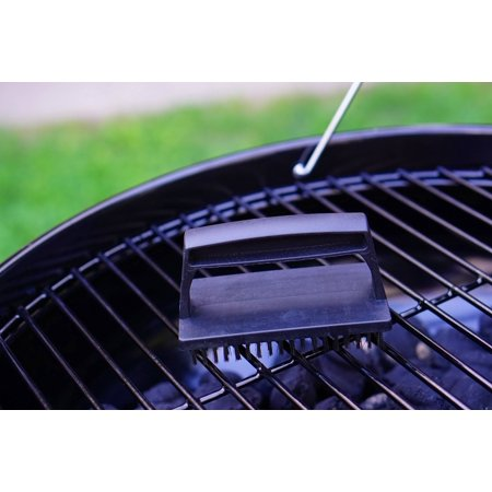 Expert Grill BBQ Grill Brush with Steel Bristles & Plastic Handle