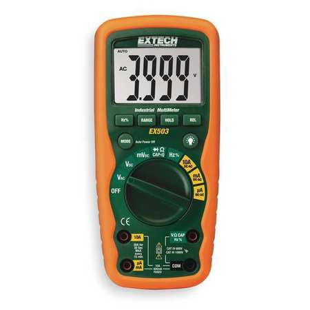 Industrial Digital Multimeter,40 Mohms EXTECH EX503