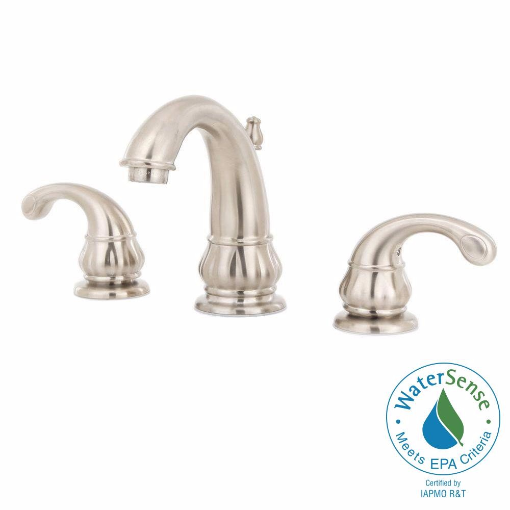 Pfister Treviso Widespread Bathroom Faucet LF-049-DK00 Brushed Nickel by