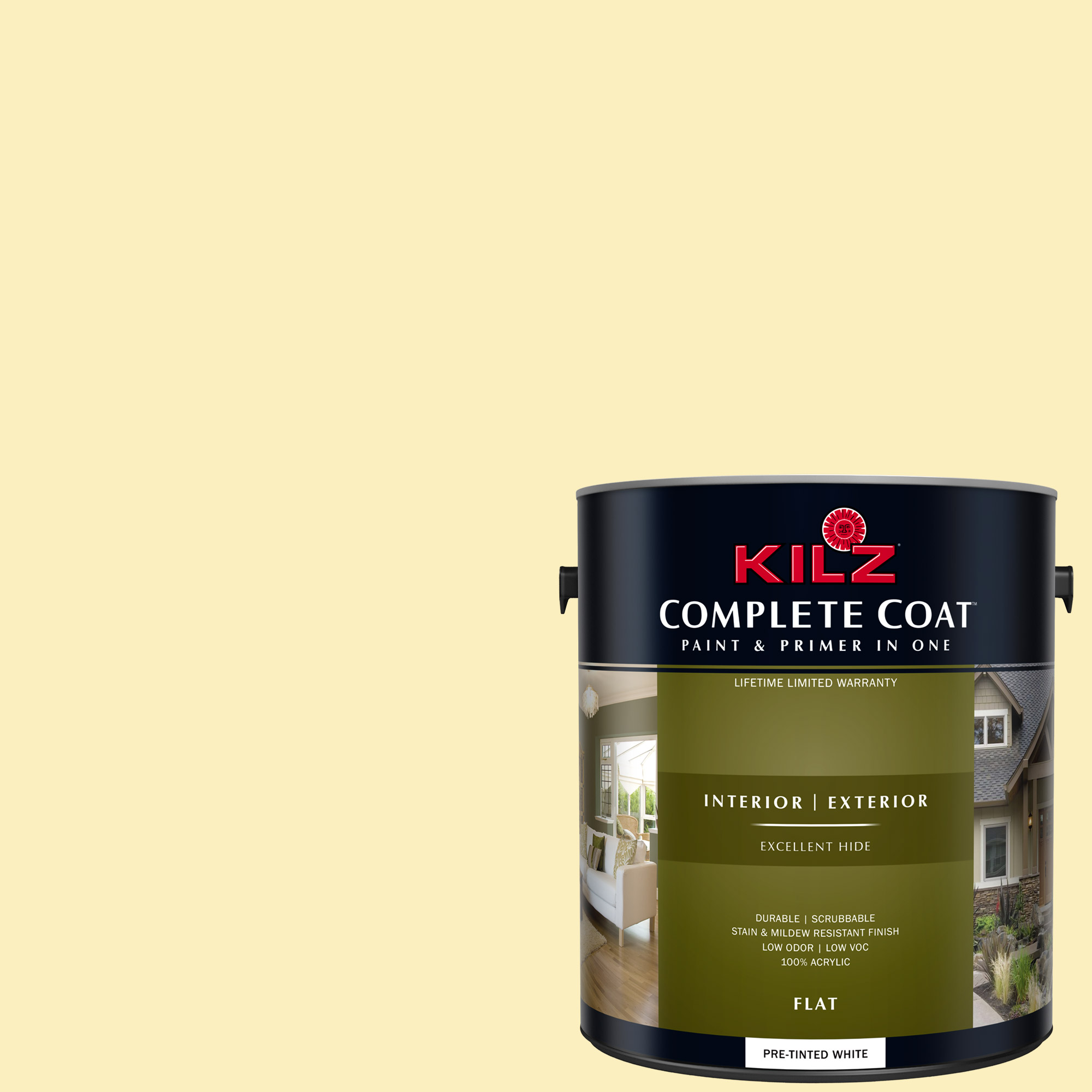 KILZ COMPLETE COAT Interior/Exterior Paint & Primer in One #LE220-01 Sticky Note