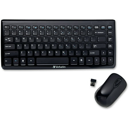 21013c90fa5 Verbatim, VER97472, Mini Wireless Slim Keyboard Mouse Combo, 1 - Walmart.com