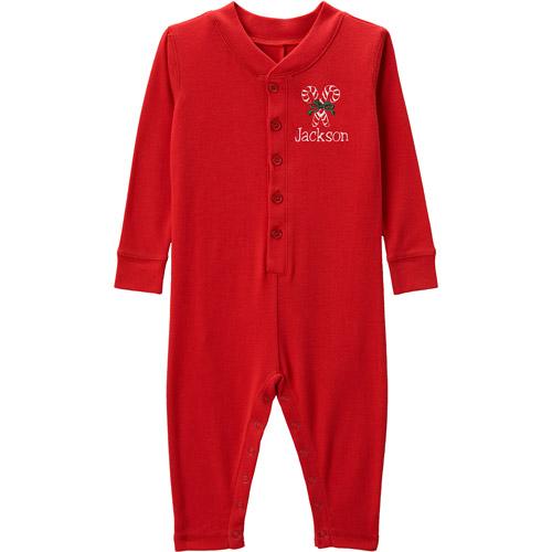 Personalized Toddler Christmas Ruffle Long John