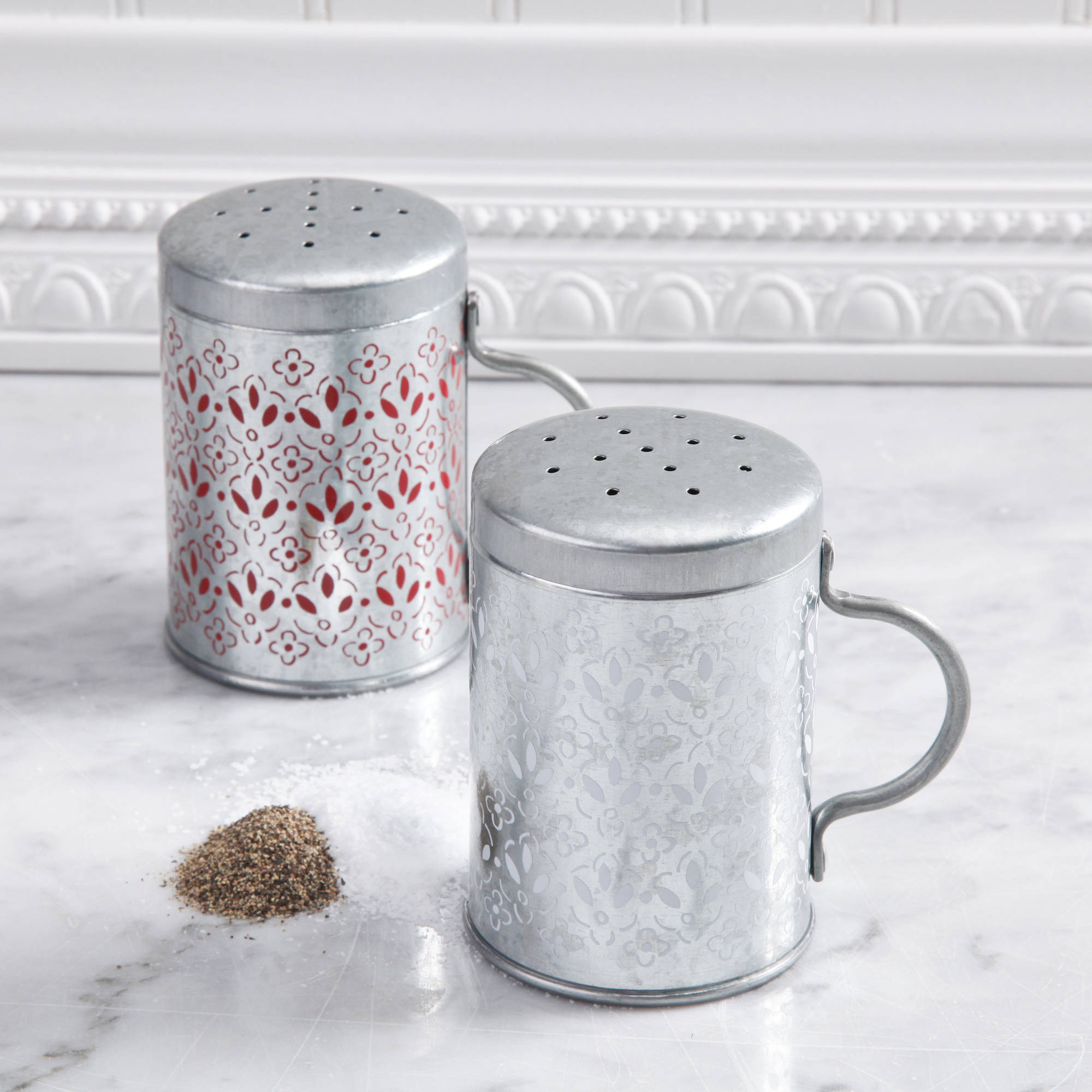 "Gibson Home Gardel 2.9"" x 4.2"" Galvanized Steel Salt and Pepper Set by Gibson Oveseas Inc."