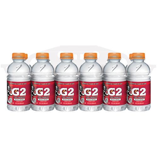 G2 Lower Sugar Gatorade Thirst Quencher Sports Drink, Mixed Berry, 12 Fl Oz, 12 Count