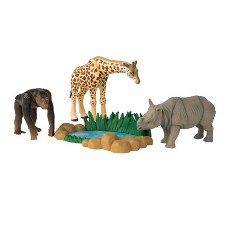 - ANIA Safari Quest Value Pack: Giraffe, Rhinoceros, Chimp