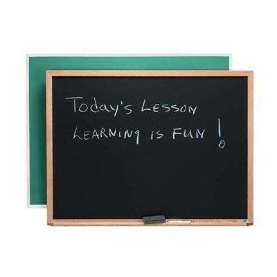 composition wall mounted chalkboard size: 1' 6 h x 2' l