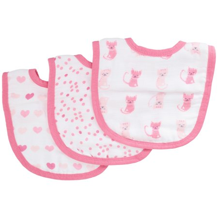 Love Baby Bib (ideal baby by the makers of aden + anais 3pk Snap Bibs, Kitty)