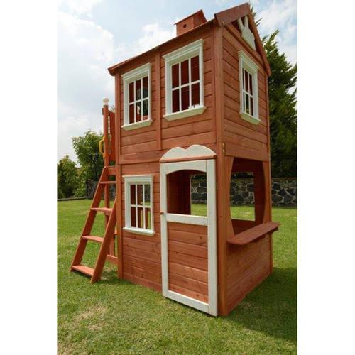 sportspower double decker wood playhouse