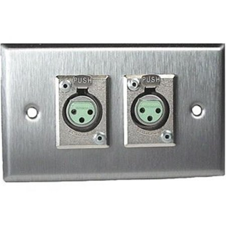 RAPCO HORIZON SP2DFS Single Gang Stainless Steel Wall Plate 2 -  Switchcrafeet D3F