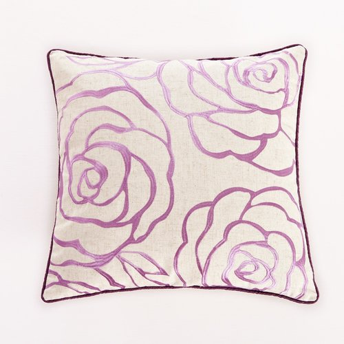 Calla Angel Embroidered Rose Decorative Throw Pillow