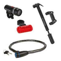 Bicycle Accessory Bundle: Light set, lock, Pump