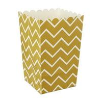 36ct Gold Popcorn Box Favor Box