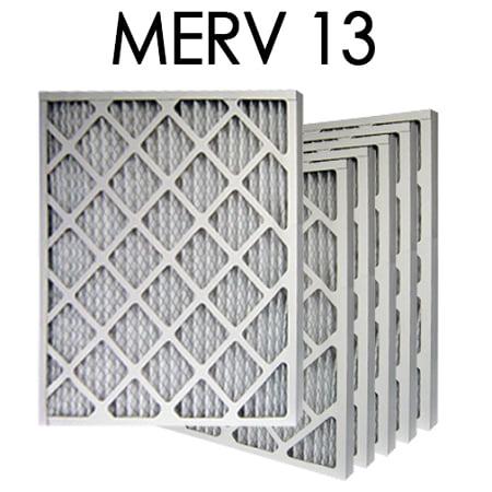14x24x1 merv 13 pleated air filter 6pk   13.375x23.375x.75 - actual ...