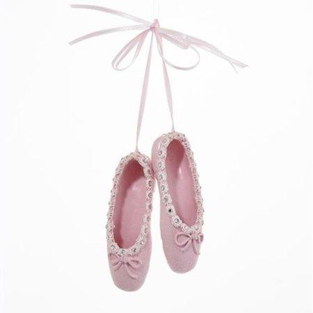 Pink Ballet Shoes Christmas Ornament - Ballet Ornaments