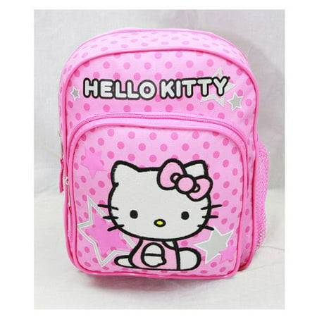 Mini Backpack - Hello Kitty - Pink Stars & Dot New School Bag Book Girls 81404 (Hello Kitty Backpacks For Girls)