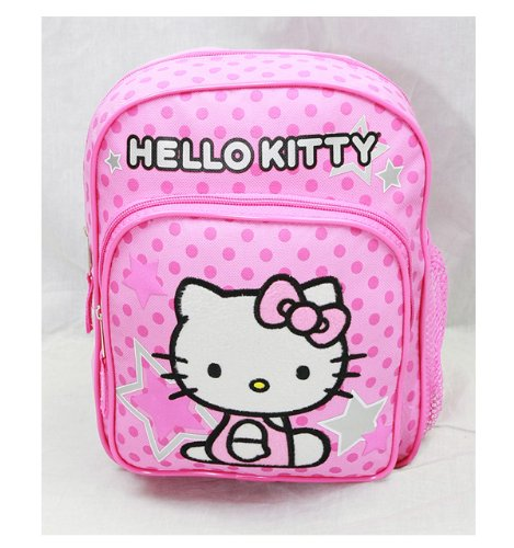Mini Backpack - Hello Kitty - Pink Stars & Dot New School Bag Book Girls 81404